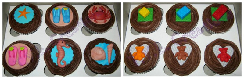 Cupcakes for kids with cancer collage 3